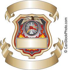 pompiere, iii, scudo