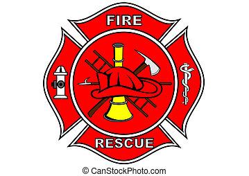 pompiere, pezza