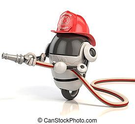 pompiere, robot