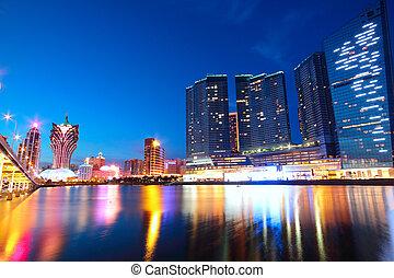ponte, asia., macao, grattacielo, cityscape, macao