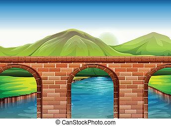 ponte, attraverso, montagne
