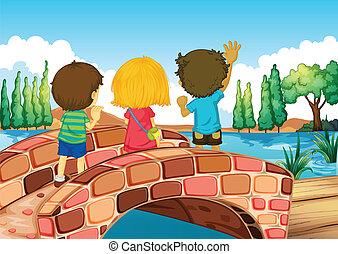 ponte, bambini