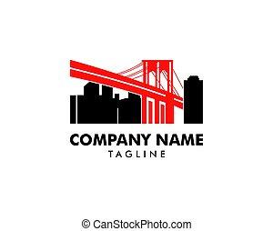 ponte, brooklyn, logotipo