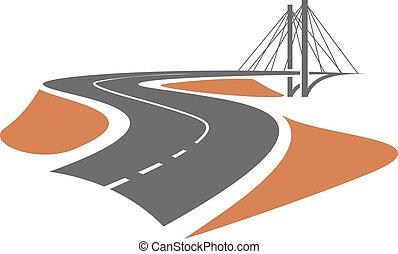 ponte cavo-stare, strada, condurre