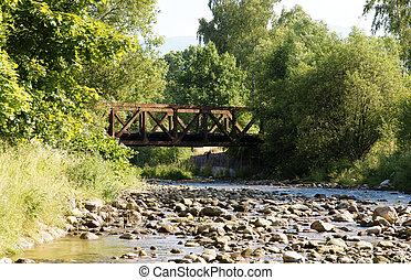 ponte, flusso