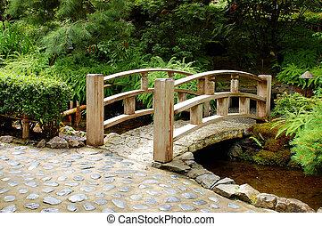 ponte, giardino