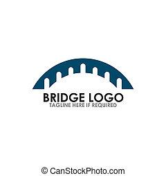 ponte, icona, vettore, disegno, logotipo, sagoma