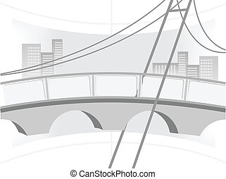 ponte, illustrazione