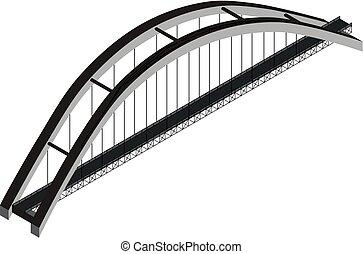 ponte, isometrico, arco