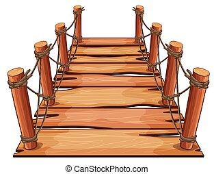 ponte legno, corda, attaccato