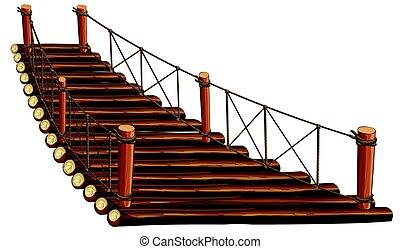 ponte legno, corda