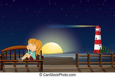 ponte legno, ragazza