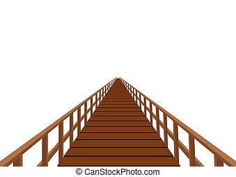 ponte legno, ringhiera
