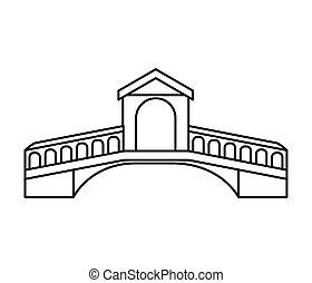 ponte, londra, isolato, icona