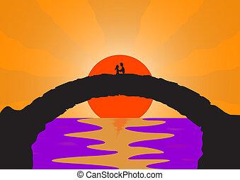 ponte, pietra, amante