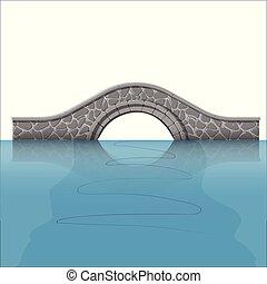 ponte, river., sopra, pietra