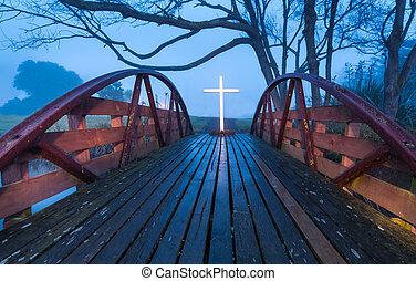 ponte, salvezza, croce