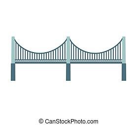 ponte, silhouette, isolato, icona