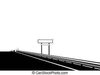 ponte, sopra, strada