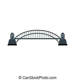 ponte, stile, appartamento, porto, sydney, icona