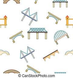 ponte, stile, cartone animato, modello