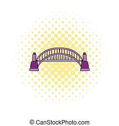 ponte, stile, comics, porto, sydney, icona