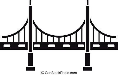 ponte, stile, semplice, grande, metallo, icona