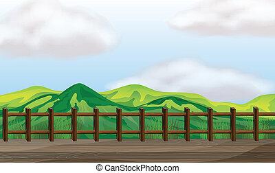 ponte, trascurare, montagna