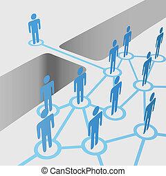 ponte, unire, rete, persone, fusione, divario, collegare, squadra