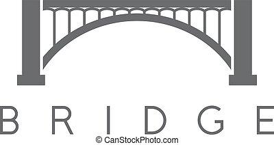 ponte, vettore, astratto, costruzione, disegno, sagoma