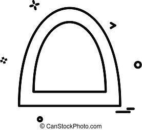 ponte, vettore, disegno, icona