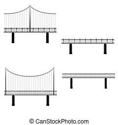 ponte, vettore, illustrazione