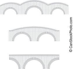 ponti, pietra, vettore, illustrazione