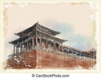 porcellana, città proibita, beijing
