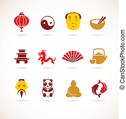 porcellana, collezione, icone