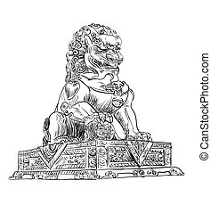 porcellana, leone, punto di riferimento