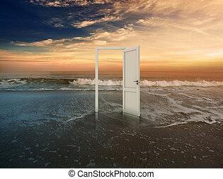 porta, aperto