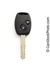 porta, automobile, isolato, chiave di accensione, percorso
