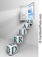 porta, concettuale, sogno