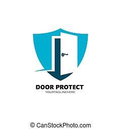 porta, disegno, vettore, illustrazione, icona