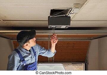 porta, installare, garage, apribottiglie, elettrico, artigiano