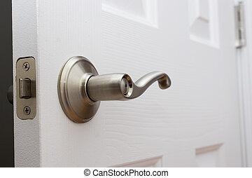 porta, manico leva