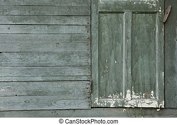 porta, parete, fondo, vecchio