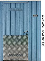porta, parete, legno