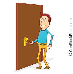 porta, sbloccando