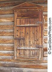 porta, vecchio, fondo, parete