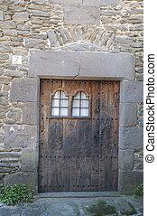 porta, vecchio, legno