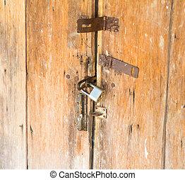 porta, vecchio nuovo, lock.