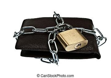 portafoglio, chiuso chiave