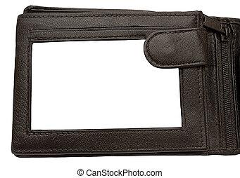 portafoglio, cornice, immagine